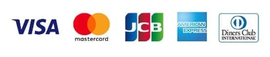 VISA,mastercard,JCB,AMERICANEXPRESS,Diners Club INTERNATIONALE