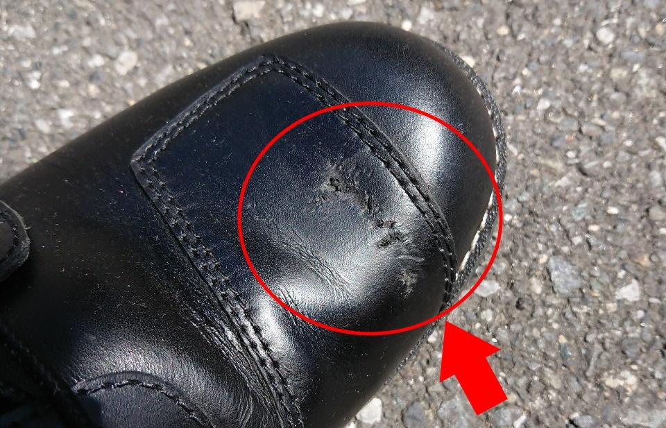 バイク,靴,傷,キズ,痛み
