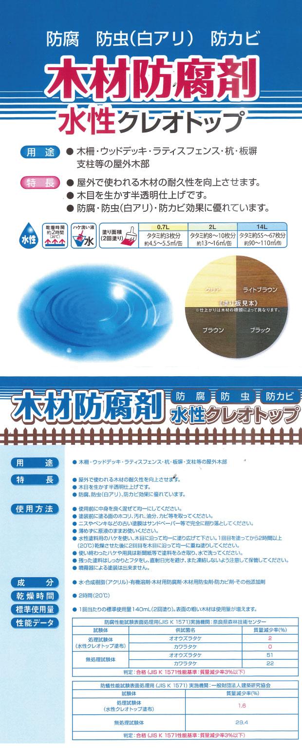 水性クレオトップ商品説明