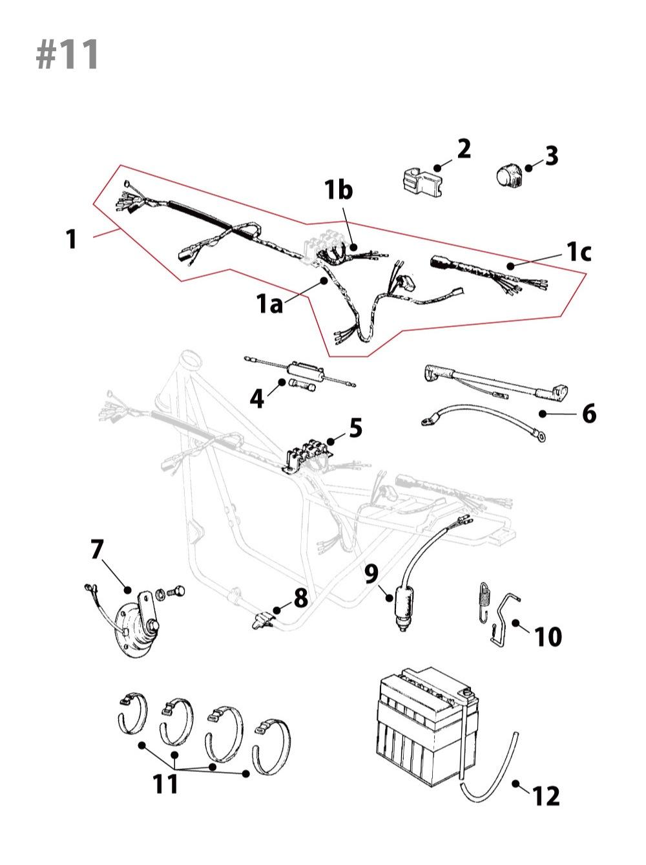 Kawasaki Z1/Z2電装部品