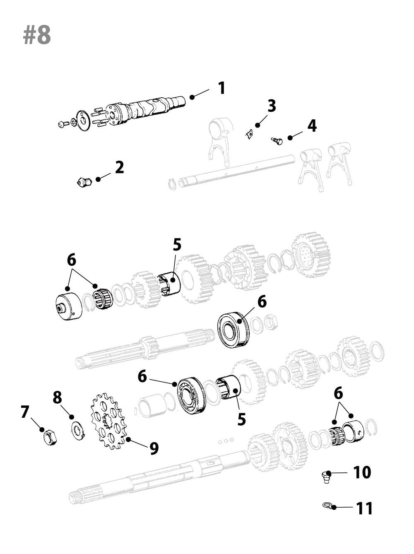 Kawasaki Z1/Z2トランスミッション