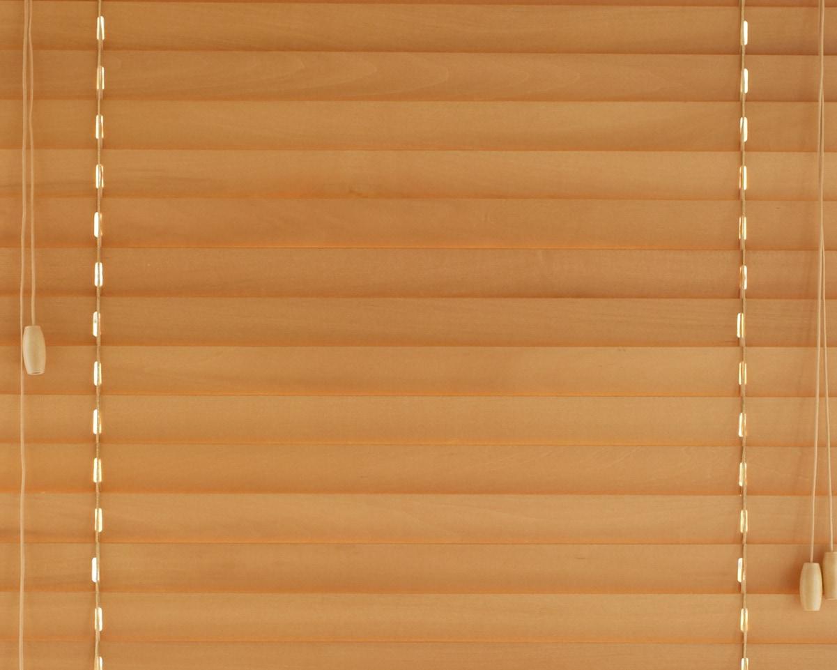 ナチュラルの木製ブラインド
