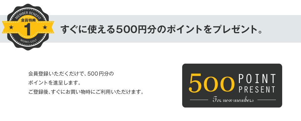 特典1 500ポイント プレゼント
