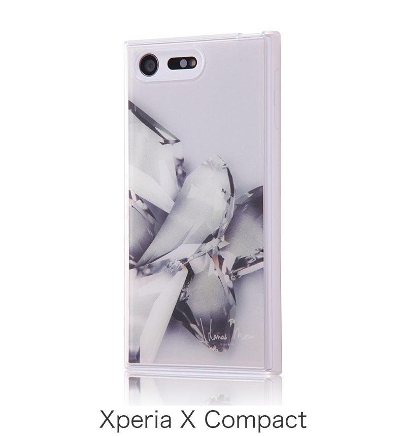 Xperia X Compact TPUケース+背面パネル Hanae Mori manuscrit/ クリスタル IJ-RHAXPXCTP/HMM08