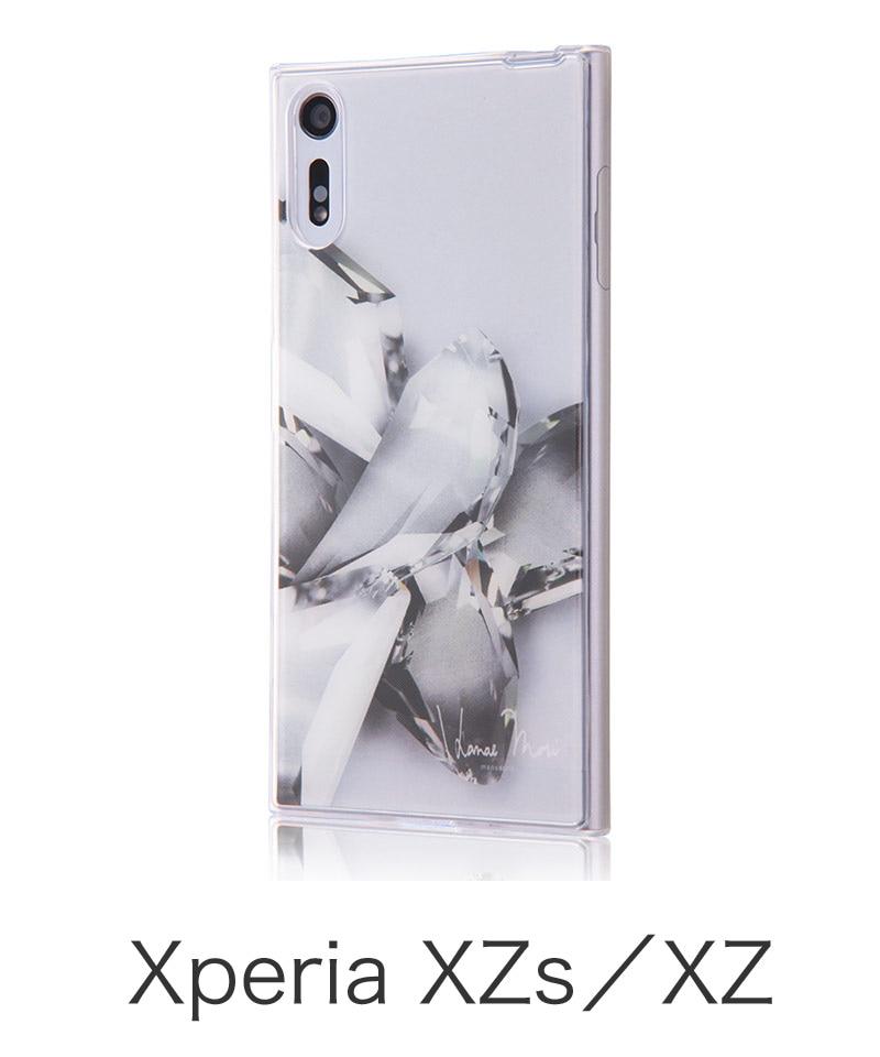 Xperia XZ TPUケース+背面パネル Hanae Mori manuscrit/ クリスタル (Xperia XZs対応) IJ-RHAXPXZTP/HMM02