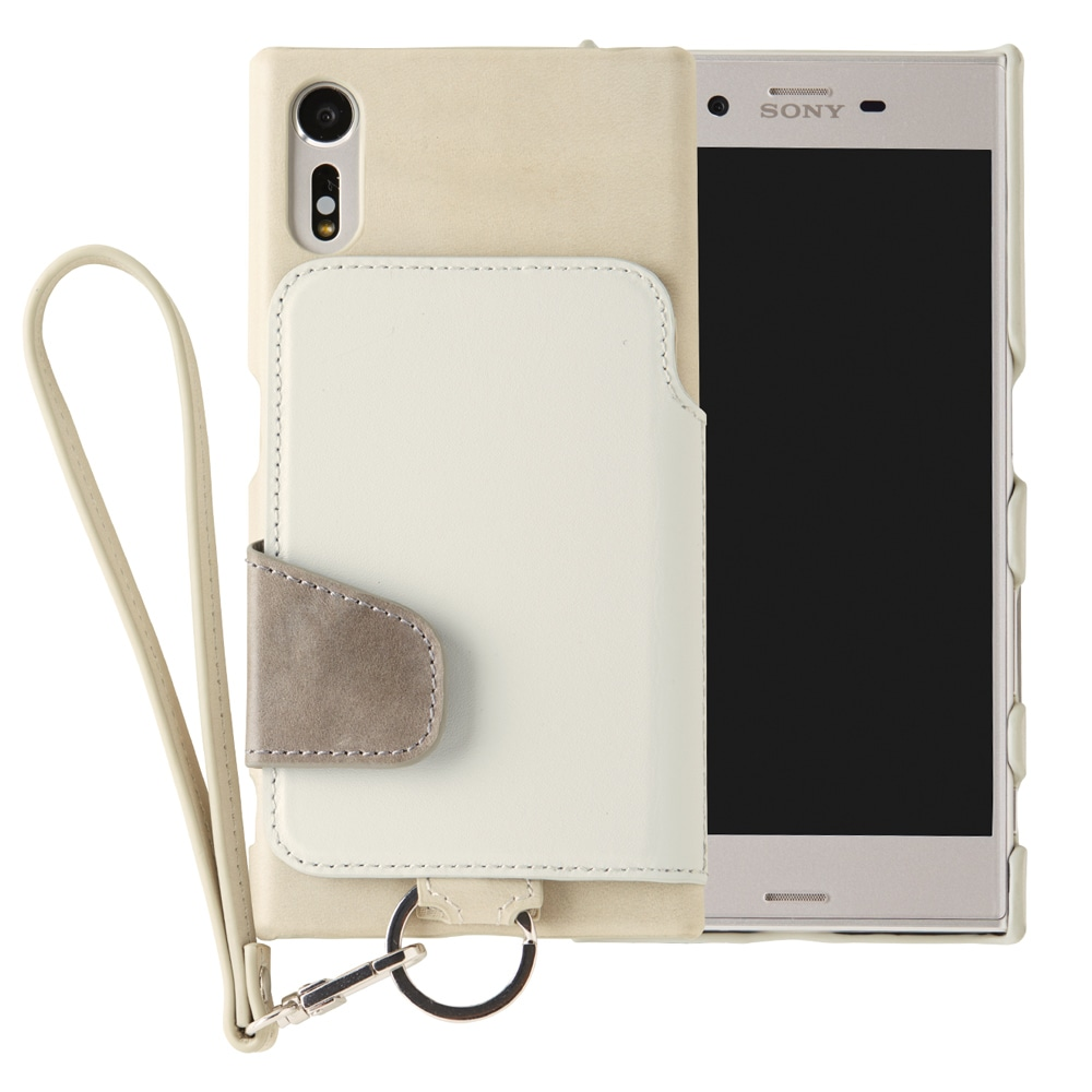 RAKUNI Leather Case with Strap for Xperia XZ / XZs ストーン RAK-XpXZs-stn