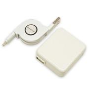 AC充電器 マイクロUSB ⇔ USBリールケーブル