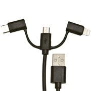 ケーブル・コネクタ USB Type-A ⇔ マイクロUSB/USB Type-C/Lightning