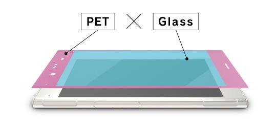 絶対、角割れしない。強化ガラスとPETフレームの複合構造