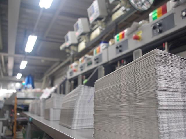 自社内にある設備で製本まで一貫生産。