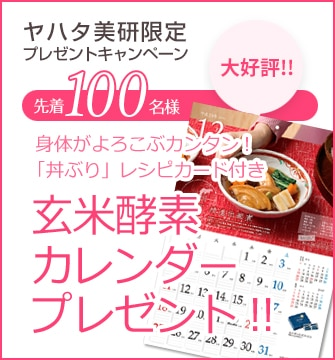 ヤハタ美研限定プレゼントキャンペーン 2018年カレンダー丼ぶりレシピ付き