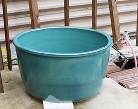 つぼ風呂 陶器浴槽 しがらき風呂 つぼ浴槽 やきもの 壷風呂 しがらきやき つぼふろ 陶器風呂