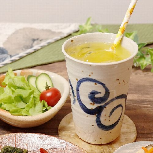 水面唐草(青) フリーカップ