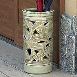 緑唐草透かし彫り