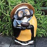 お坊さん狸(鉄鉢)