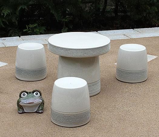 20号白縄文テーブルセット