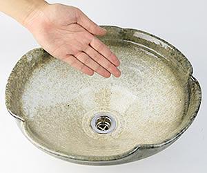 陶器手洗い器 信楽焼き洗面ボウル しがらき手洗い鉢