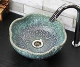 信楽焼 洗面ボウル 洗面ボール 洗面シンク 洗面鉢 やきもの 手洗器 手洗い鉢 陶器ボール 洗面 手洗鉢 和風 しがらきやき