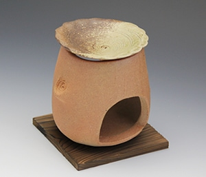 茶香炉 陶器茶こうろ アロマポット 信楽焼