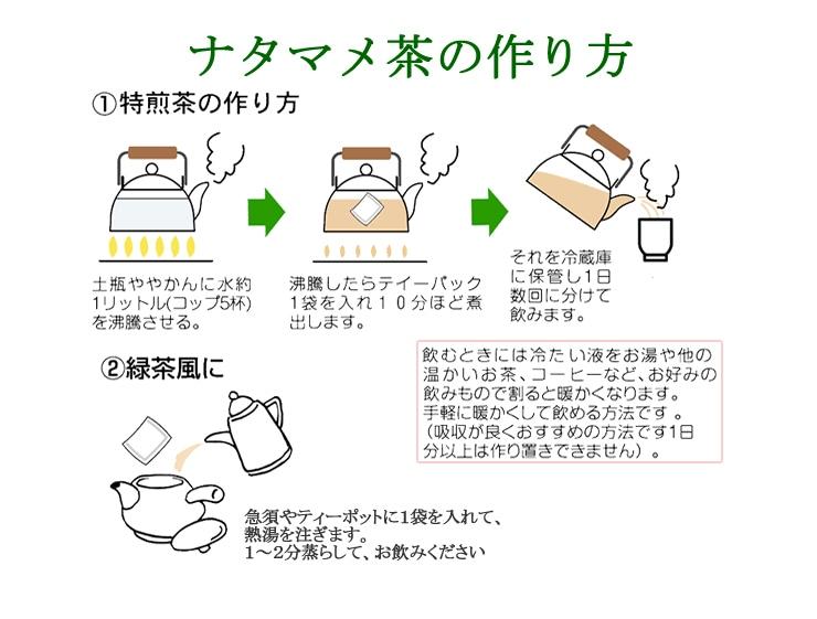 ナタマメ茶の作り方