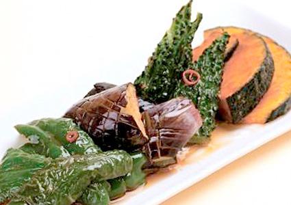 夏野菜の素揚げ めんつゆびたし