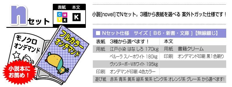 ◆nセット◆ 小説本に特化した小さめサイズ!小ロットで作れます!