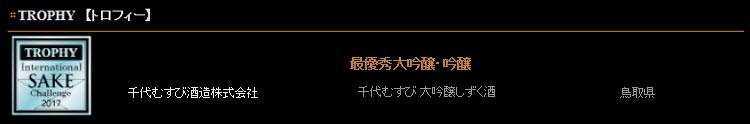 『大吟醸 袋取りしずく酒』720ml