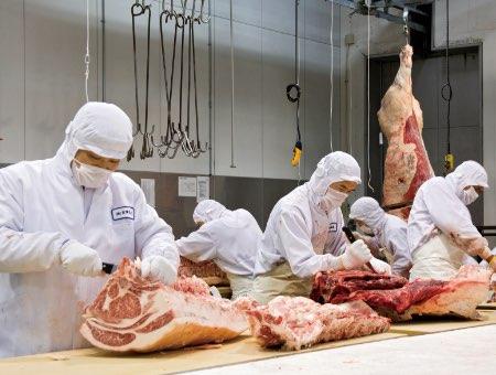 食肉市場作業写真