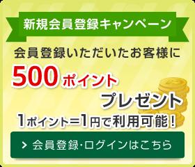 リニューアルキャンペーン 500ポイントプレゼント