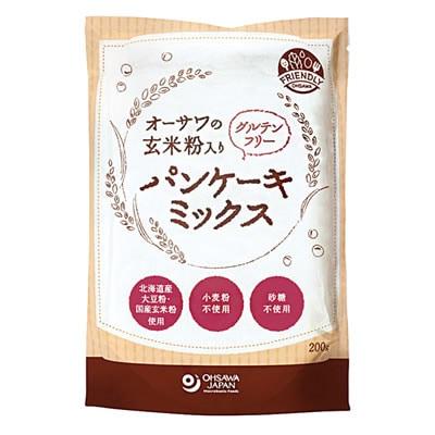 砂糖不使用 玄米粉入りパンケーキミックス グルテンフリー