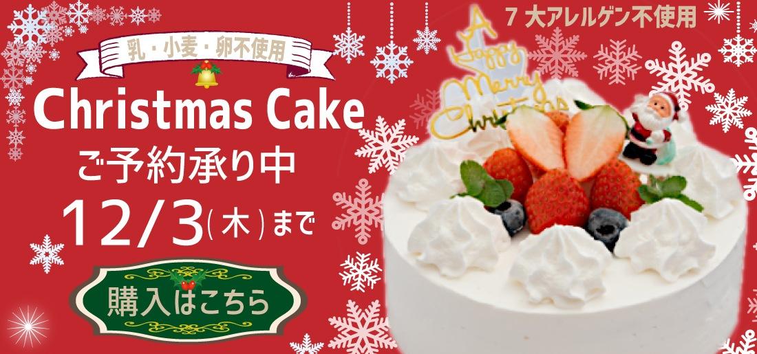 7大アレルゲン不使用のクリスマスケーキ