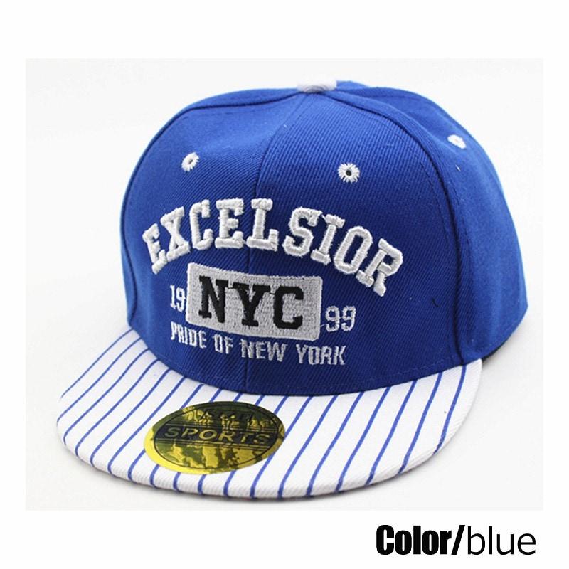 キッズダンス衣装のNYCロゴのキャップ、ブルー