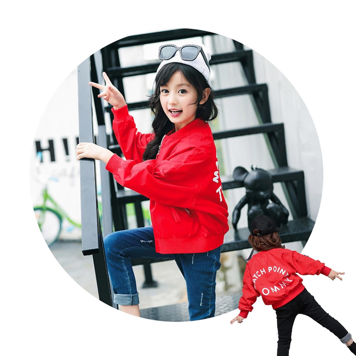 レッド/赤 女の子着用イメージ サイド