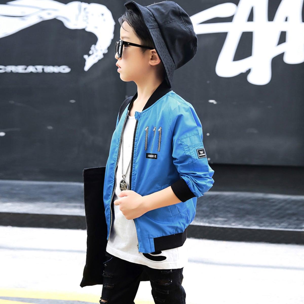 ブルー/青 男の子着用 イメージ