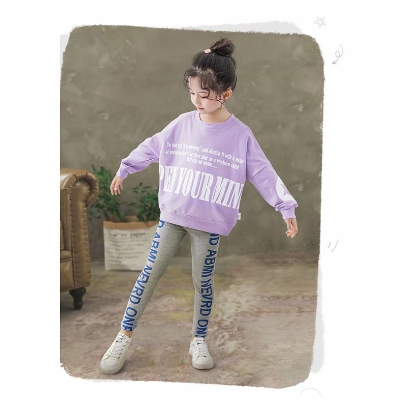 キッズダンス衣装のサイドロゴのレギンス、着用イメージ1