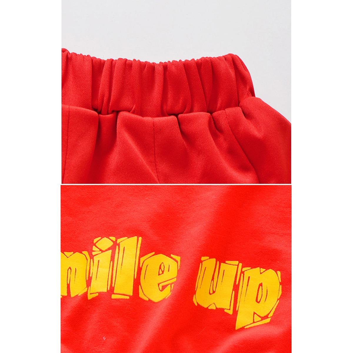 キッズダンス衣装 スパンコール 上下セット レッド  赤 スカート