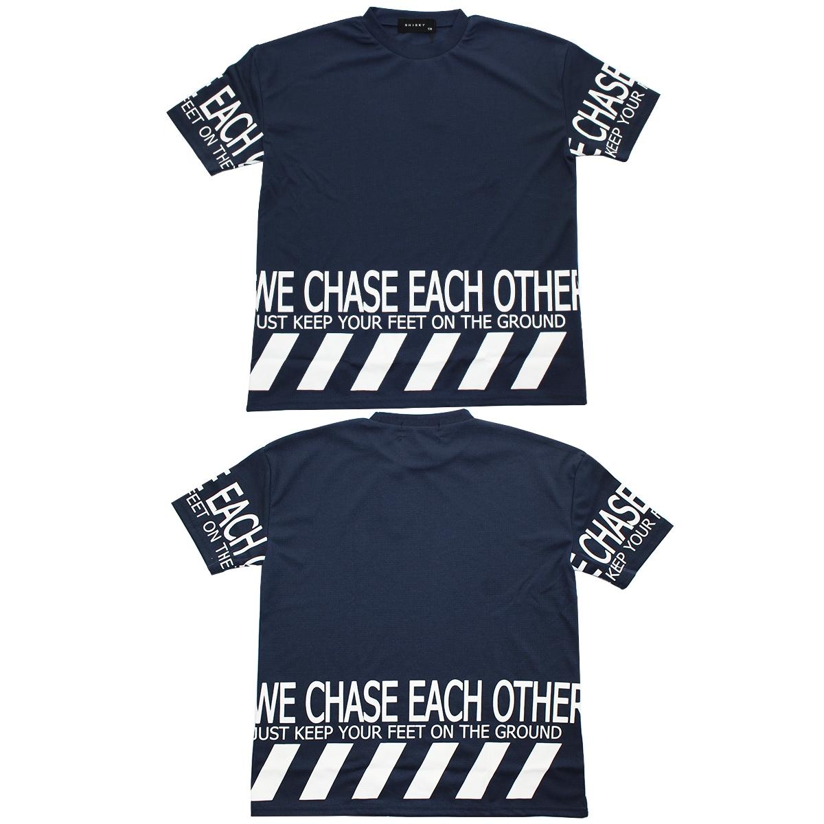 SHISKYワッフル素材半袖Tシャツ×レギンスセットアップ トップス 黒