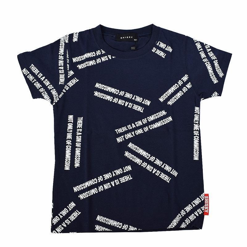 キッズダンス衣装のSHISKYの半袖Tシャツ、ネイビー