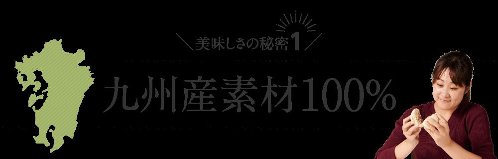 九州産素材100%