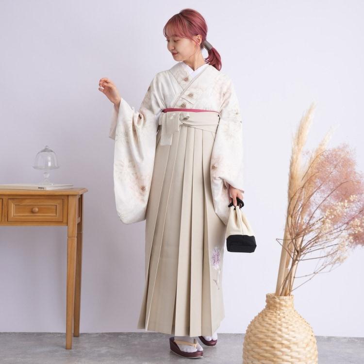 2尺袖着物 袴 16点セット(ポリ)(サブ2画像)