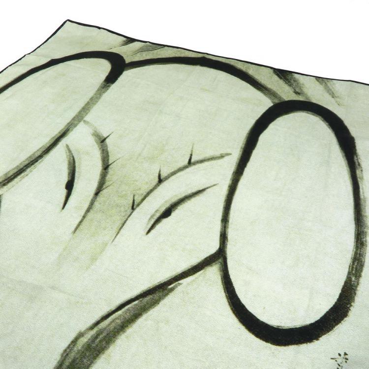 浮世絵 シルク スカーフ 90cm サブ画像1
