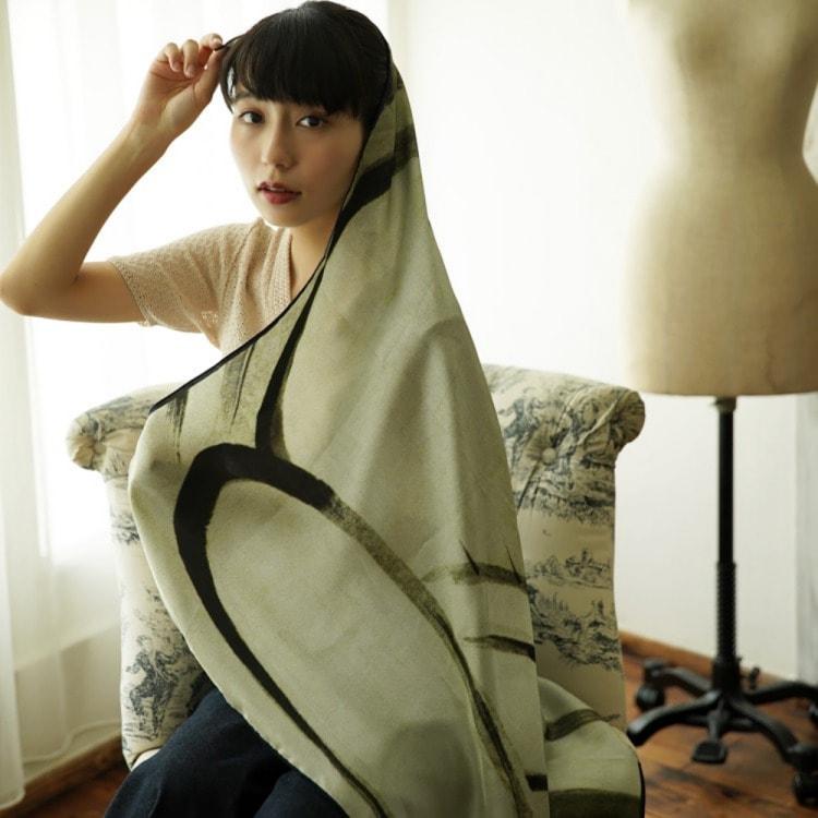 浮世絵 シルク スカーフ 90cm サブ画像5