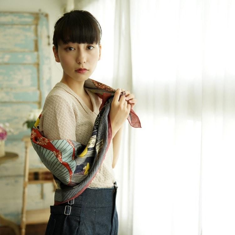 浮世絵 シルク スカーフ 90cm サブ画像7