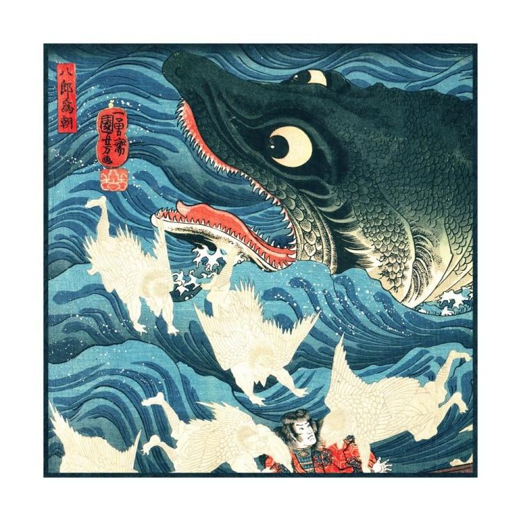 浮世絵 シルク スカーフ 90cm メイン画像