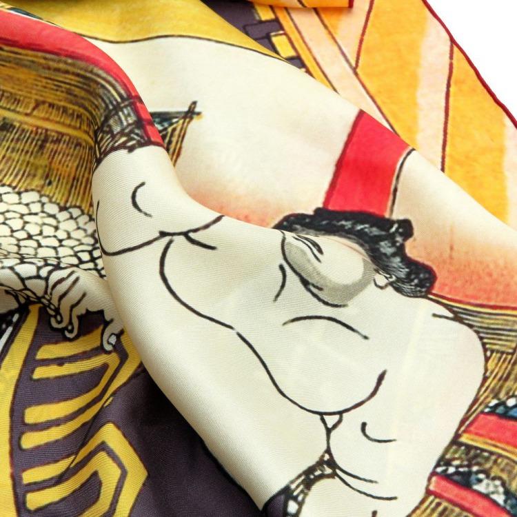 浮世絵 シルク スカーフ 90cm サブ画像2