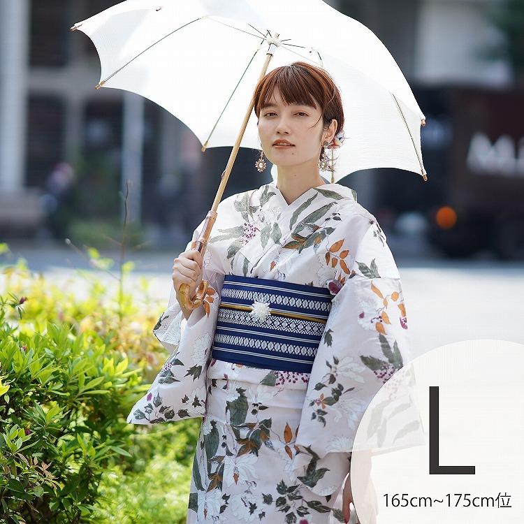 品番 5012154311 / 浴衣3点セット utatane 古典柄 レトロ アンティーク 系 牡丹 きなり 系(画像)