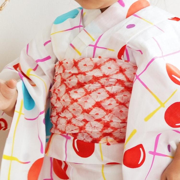 子供浴衣 3点セット  (浴衣/帯/下駄)(サブ7画像)