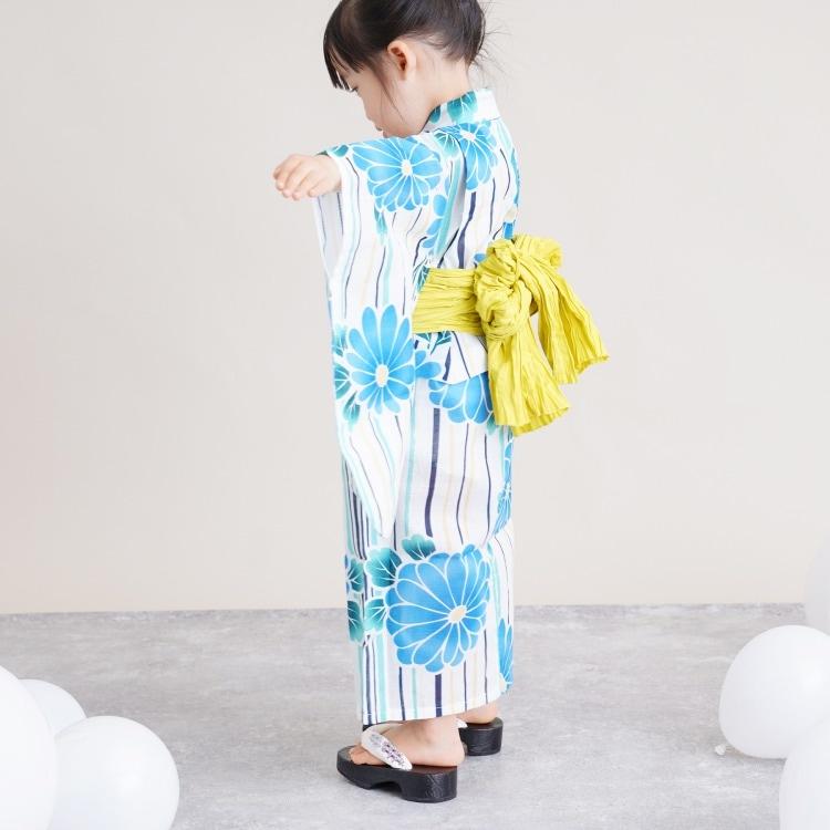 子供浴衣 3点セット  (浴衣/帯/下駄)(サブ3画像)