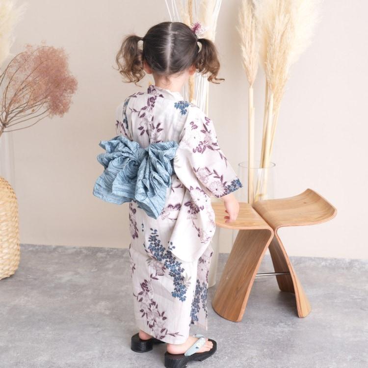 子供浴衣 3点セット  (浴衣/帯/下駄)(サブ4画像)