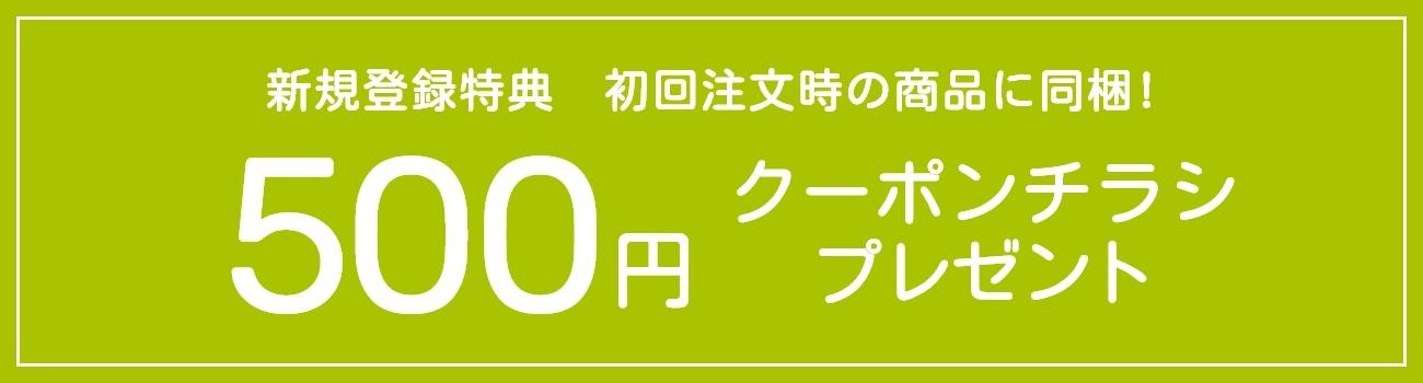 500円クーポンチラシプレゼント